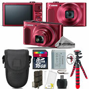 Canon Powershot Sx620 Hs Point And Shoot Red Camera +tripod + Case - 16gb Kit