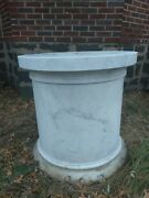 Statue Base Gorgeous Hand Carved Solid Marble Base 32 X 32