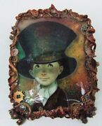 One Of A Kind Fedoskino Russian Lacquer Box Boy In A Top Hat By Shenshin