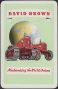 Playing Cards Single Card Old Vintage David Brown Tractors Advertising Farming A