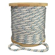 Strongest Double Braid Polyester Cable Wire Pull Pulling Rope W/ 6 Spliced Eyes
