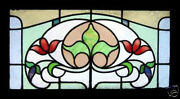 Antique Stained Glass Window Tulip Victorian Vitrail