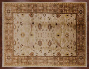 Signed Peshawar Hand Knotted Rug 9and039 0 X 11and039 8 - W1577
