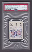Oct. 10 1965 Chicago Bears V La Rams Ticket Stub Sayers And Butkus Home Debut Psa