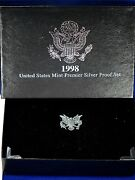 1998-s Premier Silver Proof Set. Coins In Mint Made Custom Display Box