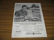 1956 Print Ad Ge General Electric Skillet Ted Williams Boston Red Sox