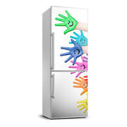 Removable Home Refrigerator Wall Sticker Magnet Decor Modern Painted Hands