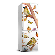 Removable Refrigerator Wall Sticker Magnet Decor Animal Birds Butterfly Leaves
