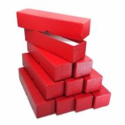 10 Red Storage Boxes For 2x2 Coin Holders And Flips 2x2x9 Single Row