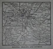 L@@k Antique 1918 Small World Atlas Maps Of Hamburg,germany And Environs Great