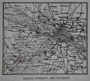 L@@k Antique 1914 Small World Atlas Maps Of Berlin,germany And Birmingham,england
