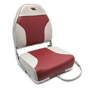 Wise 8wd588pls-661 Standard High Back Marine Boat Seat No-pinch Hinges Grey Red