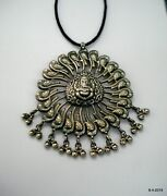 Vintage Sterling Silver Pendant Necklace Traditional Jewelry Hindu God Ganesha