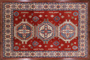 Kazak Hand Knotted Wool Area Rug 8and039 7 X 13and039 0 - H7098