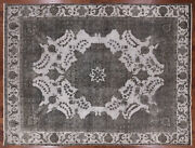 9' 6 X 12' 6 Overdyed Hand Knotted Wool Rug - W967