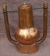 Rare French Dovetailed Copper Water Heater For Bath Tub Early 18th C
