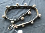 Vintage Horse Sleigh Bells 11 Amish Brass Bells With Leather Strap Ott-00482