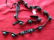 Vintage Horse Sleigh Bells 14 Brass Bells With Leather Strap Chi-ss21