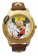 Lorus Talking Minnie Minie Mouse Disney Watch With Brown Genuine Leather Band