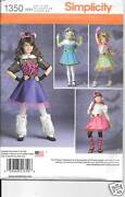 1350 Girls Monster High Costumes Size 3-6 New Sewing Pattern Simplicity 1350