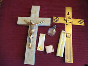 Vintage Rare Last Rites Crucifix W Candles Holy Water Bottle 10 T X 6 W X2 D