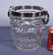 Vintage French Silver Plated And Crystal Champagne Bucket