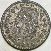 1814 Classic Head Crosslet 4 Large Cent Very Scarce Au/unc Features W/corrosion