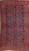Antique Vegetable Dye All-over Oriental Hand-made 5x8 Navy Blue /red Rug