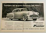 1953 Print Ad The '53 Pontiac 2-door With Fender Skirts