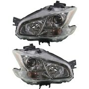 Hid Headlight Set For 2009-2014 Nissan Maxima Left And Right W/ Bulbs Pair