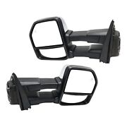 Tow Mirror Set For 2015 2018 Ford F150 Left And Right Side Power Fold Puddle Light