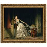 Design Toscano The Stolen Kiss C. 1788 Canvas Replica Painting Small