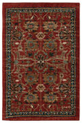Karastan Red Transitional Casual Woven Floral Area Rug Bordered 90936 30048