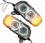 Qsc Full Led Performance Right And Left Side Headlights Pair For Peterbilt 388 389