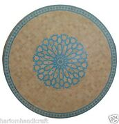 30 Marble Coffee Side Corner Table Top Mosaic Matquetry Inlay Garden Arts H1551