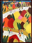 The New Yorker Magazine October 12, 1929 A. Kronengold Fall Hiking Forest