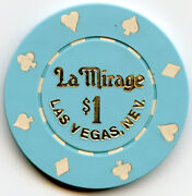 La Mirage Casino Las Vegas [two Chiops] - 1 And 25c Chips- 1986