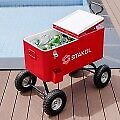 Outdoor 80 Qt Portable Rolling Party Wagon Cooler Cart-rear Drainage-can Opener