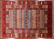 Gabbeh Lori Buft Hand Knotted Rug 6and039 10 X 9and039 5 - P9188