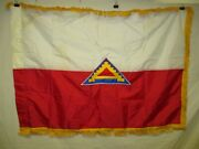 Flag1251 1980and039s-00 Us Army Nylon Flag 7th Army 7 Steps To Hell W11d
