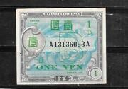 Japan 67b 1955 Yen Vf Circ Military Old Banknote Paper Money Currency Bill Note