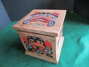 Classic Northwest Coast Design, Hand Carved And Painted Lidded Box,  Wy-02470