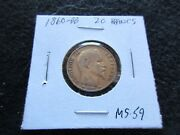 1860-bb 20 Francs Gold Coin, France, Napoleon Iii, Ungraded    Day-02768