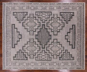 Southwest Navajo Hand Knotted Wool Area Rug 8and039 0 X 9and039 11- Q1560