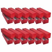 12 Red Storage Boxes For 2x2 Coin Holders And Flips 2x2x9 Single Row