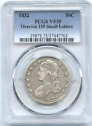 1832 50c Vf 35 Pcgs-overton 119-small Letters-capped Bust Halve//