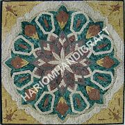 48 Marble Square Top Dining Table Amazing Mosaic Rare Inlay Cafeteria Deco C923