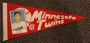 1960and039s Dean Chance Minnesota Twins Red Photo Picture Pennant Extremely Rare One