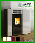 Pellet Stove Ducted Anselmo Cola Model Afrodite 1104 Kw Wifi