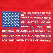 Menand039s Shirt M Preamble To The Constitution Usa Embroidered Red Patriotic